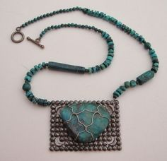 Gem Quality TURQUOISE on Antique Steel Belt by MOUNTAINPOODLE, $145.00