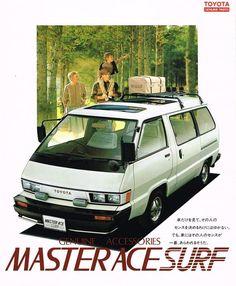Vw Syncro, Toyota Van, Japanese Domestic Market, Van Home, Mini Bus, Lexus Cars, Ae86, Retro Advertising, Retro Cars