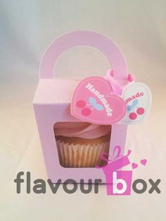20x Pink Single Cupcake Boxes with handle by flavourbox on Etsy, $9.95