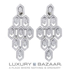 Enter looking sophisticated and with this elegant pair of Full Diamond Pavé Clip-on Earrings by from the which are made of White Gold. From a embellished to alluring cufflinks, we have the designer accents you need to celebrate in style. I Love Jewelry, Fine Jewelry, Jewelry Design, Bulgari Jewelry, Nye Outfits, Clip On Earrings, Gold Earrings, Bvlgari, White Gold Diamonds