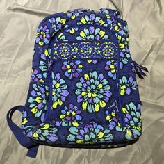Vera Bradley book bag Slightly used, still in great condition. Has 3 compartments, including a laptop slot. No rips, snags or stains. Comes from a smoke free home. Vera Bradley Bags Backpacks