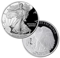 Beautiful Design Modeled after the Walking Liberty Half Dollar Coin: Money Metals' oz Silver Rounds are Perfect for Barter. Silver Eagle Coins, Silver Eagles, Gold Coins, Bullion Coins, Mint Gold, Half Dollar, Coin Collecting, Silver Rounds, Design Model