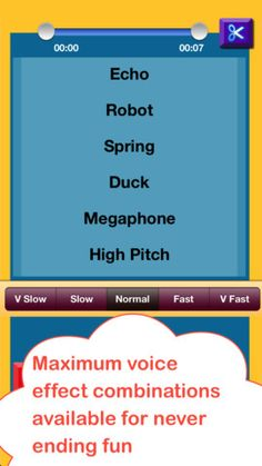 More than Helium Voice Change Booth with Ringtone ($0.00 with 0.99 iAP to save and share) A fun App to record share your voice or create Ringtone with Hilarious sound effects like Robot, Violin, Guitar, Chipmunk / Helium and more . You can also apply speed effects to make it more funny.