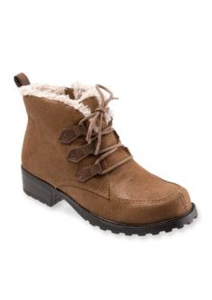 Trotters Brown Suede Snowflakes III Cold Weather Boot