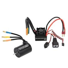 [USD39.13] [EUR35.14] [GBP27.34] 3650 3900KV 4P Sensorless Brushless Motor + 60A Brushless Splash-Proof Electronic Speed Controller ESC with 5.8V/3A Switch Mode BEC for 1/10 RC Car Truck