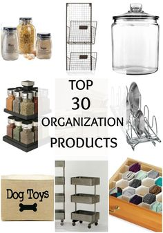 No need to look any further! These are THE BEST organizational products for your home. Top 30 Organization Products via A Blissful Nest. http://ablissfulnest.com