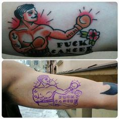 Traditional boxer fuck cancer