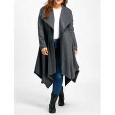 SHARE & Get it FREE | Plus Size Handkerchief Long Wool CoatFor Fashion Lovers only:80,000  Items·FREE SHIPPING Join Dresslily: Get YOUR $50 NOW!