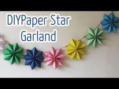 Diy crafts : Paper stars garland - Ana | DIY Crafts - YouTube