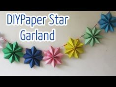 Diy crafts : Paper stars garland - Ana | DIY Crafts - YouTube