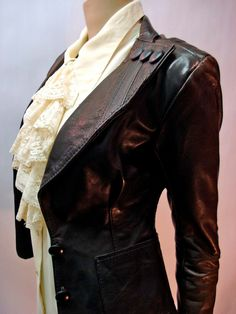 I SO want this in my closet    1960s Black Leather SUPA SWEET Jacket Wide by LostnFoundVintage