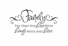 Family Vinyl Wall Decal - Live Laugh Love Wall Quote Saying for Living Room Family Room Foyer 20Hx36W FS098 on Etsy, $43.00