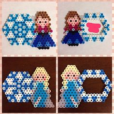 Disney Frozen name tag perler beads by Pearler Bead Patterns, Perler Patterns, Pearler Beads, Melt Beads Patterns, Beading Patterns, Pixel Beads, Fuse Beads, Diy For Kids, Crafts For Kids