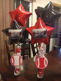 Baseball banquet  Centerpieces