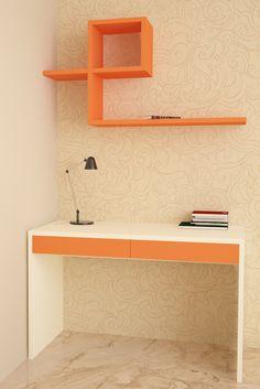 HomeLane: Full Home Interior Design Solutions, Get Instant Quotes. Study Tables, Cozy Corner, Organize Your Life, Home Interior Design, Floating Shelves, Flamingo, Living Spaces, Minimalist, The Unit