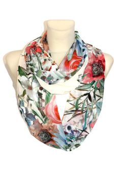 Hey, I found this really awesome Etsy listing at https://www.etsy.com/listing/183498842/floral-silk-scarf-multicolor-infinity
