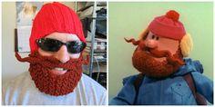 Yukon Cornelius beard hat beard Beanie crochet hat by Ritaknitsall