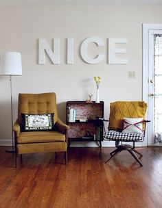 DIY sign for large open wall.