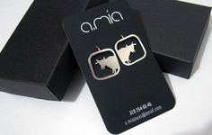 Cow earrings. Silver 925. Handmade.