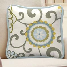 Carousel Designs Spa Pom Pon Play Decorative Pillow Squar...