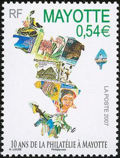 Mayotte White-eye stamps - mainly images - gallery format