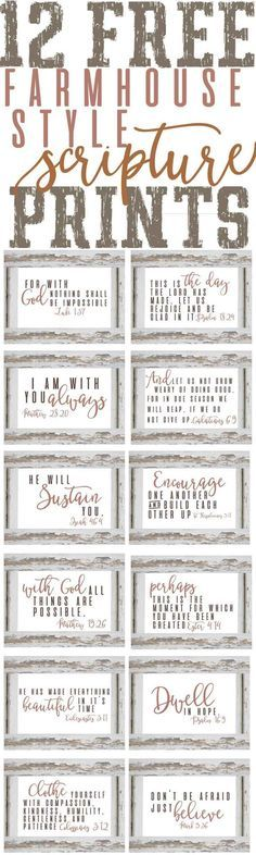 Stylish Scripture Prints ~Free Planner & Organization Printables — The Mountain View Cottage Planer Organisation, Diy Organization, Do It Yourself Inspiration, Style Inspiration, Style Ideas, Free Planner, Lettering, Diy Signs, My New Room