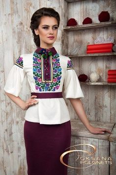 burgundy skirt, white blouse, flowery blouse, beautiful