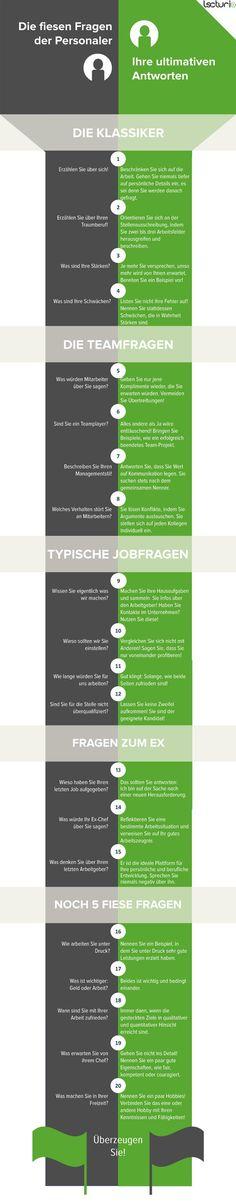 Infografik: Die 20 ultimativen Antworten auf fiese Personalerfragen