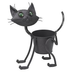 Mini Kitty Cat Planter - must try to paint white in honor of our Tia Maria