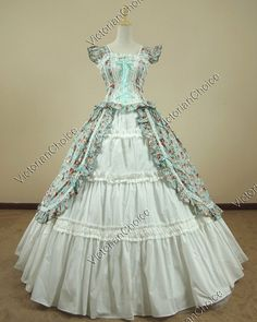 Victorian Gothic Lolita Cotton Dress Ball Gown Prom Reenactment