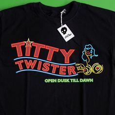 From Dusk Till Dawn Shirt - Classic Titty Twister T-shirt - Horror Movie T  Shirt 263449b1b8a