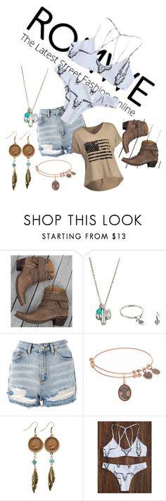 """Untitled #1347"" by george-isaacs ❤ liked on Polyvore featuring Corral, M&F Western, Topshop and American Coin Treasures"