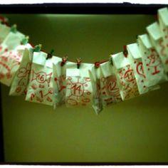 White Paper Bag Advent calendar