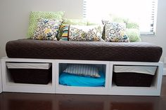 How to Build Sofa Daybed with Storage? — Deco Home Decor Small Daybed, Ikea Daybed, Daybed Room, Diy Daybed, Daybed With Drawers, Daybed With Storage, Furniture Plans, Diy Furniture, Farmhouse Furniture
