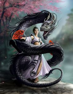 Anne Stokes - Dragon Dancer...#dragon #fantasy #maiden