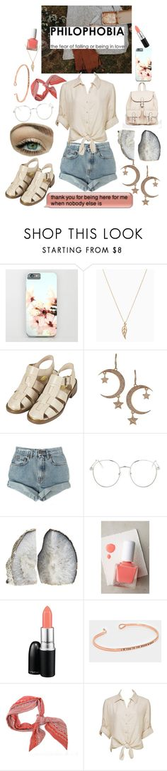 """Philophobia"" by sings-reads-draws ❤ liked on Polyvore featuring Topshop, BCBGeneration, Levi's, tenoverten, MAC Cosmetics, Charlotte Russe and MANGO"