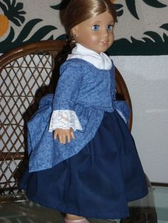 1770s Colonial En Forreau Gown by alohagirldollclothes on Etsy, $40.00