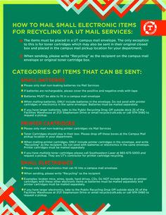 UT Recycling E-Recycling Mail Program.