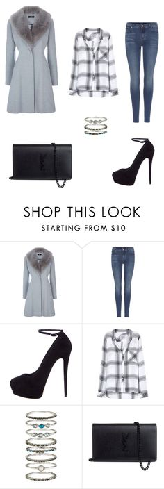 """""""Untitled #192"""" by duda0605 ❤ liked on Polyvore featuring beauty, 7 For All Mankind, Giuseppe Zanotti, Rails, Accessorize and Yves Saint Laurent"""