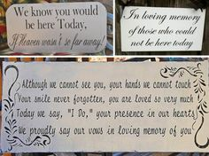 honor loved ones at your wedding with sentimental quotes.