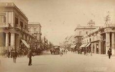 Av. 18 de Julio visto desde Plaza Independencia. - 1902. Montevideo, Uruguay.