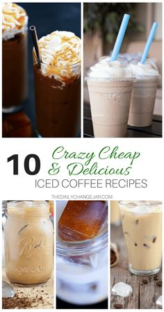 Save money by making your own iced coffee or frappes at home! These homemade iced and blended coffee recipes are not only easy to make but are also super frugal! Save tons on your monthly grocery budget by incorporating these frugal iced and blended coffee recipes today!#icedcoffeerecipe #easyicedcoffeerecipes #homemadeicedcoffeerecipes #starbucksicedcoffeerecipes #keurig #caramel #vanilla #pioneerwoman #instanticedcoffeerecipe #summerdrinks