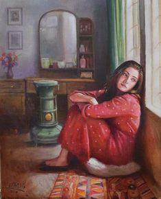 Miss my love jano i love you so much Sathi darling Art Village, Cartoon Kunst, Cartoon Art, Art And Illustration, Girly Drawings, Art Drawings, Fantasy Kunst, Fantasy Art, Alone Girl
