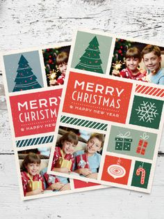 Retro christmas greeting card with holidays themed illustrations and family photos. It comes in 2 color variations. Features: A5 size, 300 dpi, 3 mm bleed, CMYK Fully layered, scalable and editable (only vector shapes) 2 color variations 2 .PSD files & 2 .AI files included Free fonts used Photos are not included in dowload pack, you can replace them easily with your own images.