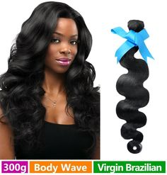 Rechoo Mixed Length Brazilian Virgin Remy Human Hair Extension Weave 3 Bundles 300g - Natural Black,14'16'18',Body Wave ** You can get additional details at the image link.