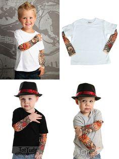 Rockabilly Baby - Mesh tattoo sleeve shirt - Punk Tattoo Shirt - Tattoo Shirt - Tatoo Shirt - Funny Baby Shirt