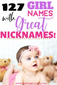 We love nicknames in our family! If you do too, and you're looking for that perfect girl name with an adorable nickname, this list is for you! With girl names and the possible nicknames listed, you'll be sure to find your new favorite girl name! Nicknames For Girls, Names With Nicknames, Cute Nicknames, Cool Baby Girl Names, Modern Baby Names, New Baby Girls, Italian Girl Names, Nick Names For Boys, Irish Baby Names