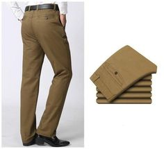 Men's Business Casual Dress Cotton Pants Sizes 29-42 Two Colors – Floessence