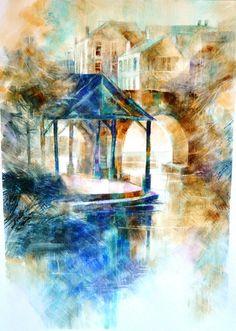Aquarelles paysages - Anne Huet-Baron