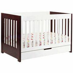 BabyLetto Mercer 3-in-1 Convertible Crib in Espresso White